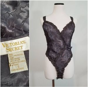 VS Gold Label Grey Jacquard Body Suit
